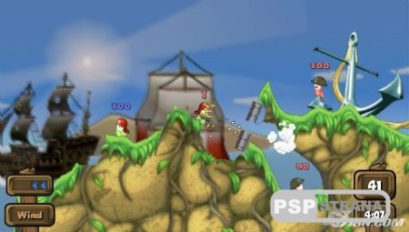 Worms: Open Warfare 2 [RUS] [Игры для PSP]