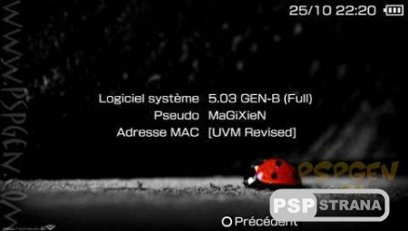 Custom Firmware 5.03GEN-B для HEN(PsP 3000)