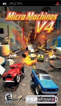 Micro Machines V4 [Mini Игры для PSP]