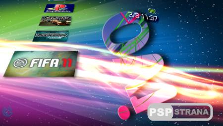 Тема OVI Revolution 3D Theme [CTF/ PSP]