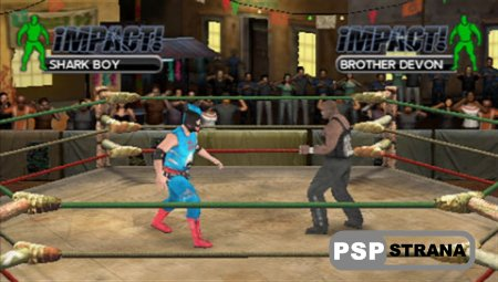 TNA Impact Cross The Line (PSP/ENG) Игры на PSP
