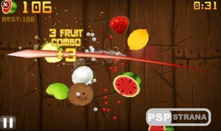 PSP игра Fruit Ninja Final! (2012/ENG)
