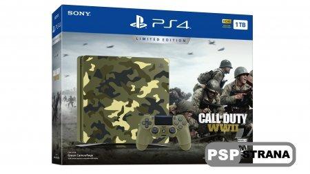 PS4 Slim выйдет в тематическом бандле с Call of Duty: WWII