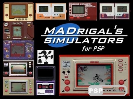 MADrigalPSP V1.0: handheld simulation Game & Watch [HomeBrew][2017]
