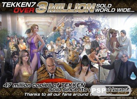 Общие продажи франшизы Tekken достигли отметки в 47 миллионов копий