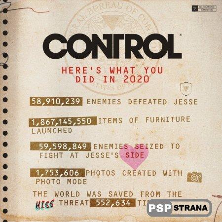 Статистика экшена Control: 550 тысяч успешных прохождений и 59 млн побежденных врагов